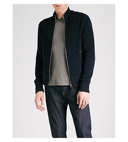 TOM FORD Funnel-neck merino wool jumper (Navy