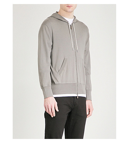 TOM FORD Hooded cotton-blend polo jumper (Taupe