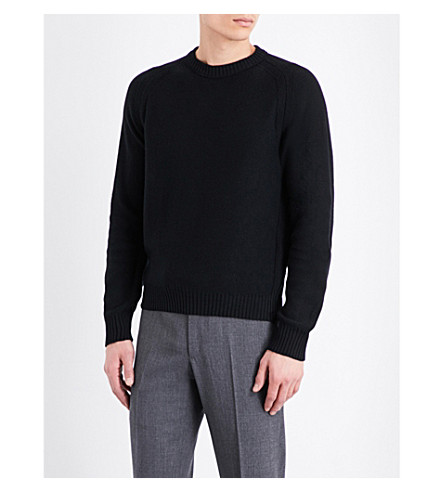 TOM FORD Crewneck cotton, cashmere and silk-blend jumper (Black