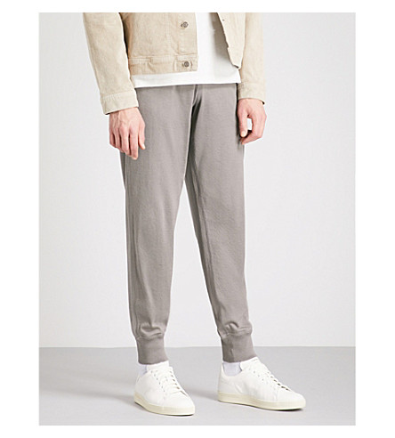 TOM FORD Waffle-knit cotton-blend jogging bottoms (Taupe