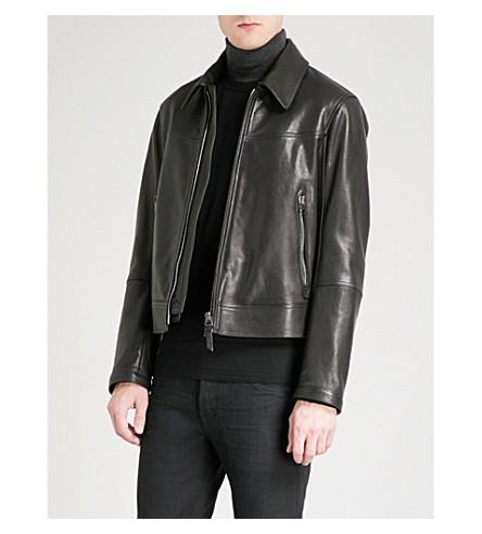 TOM FORD New World leather biker jacket (Black