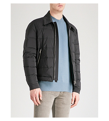 TOM FORD Collared shell-down biker jacket (Black
