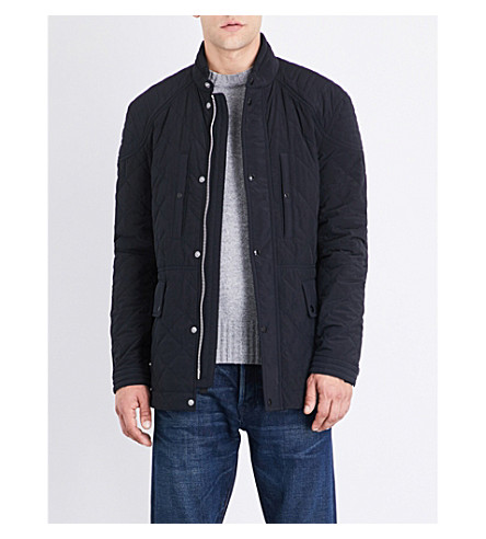 TOM FORD Quilted shell jacket (Navy