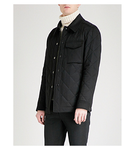 TOM FORD Quilted cashmere jacket (Black