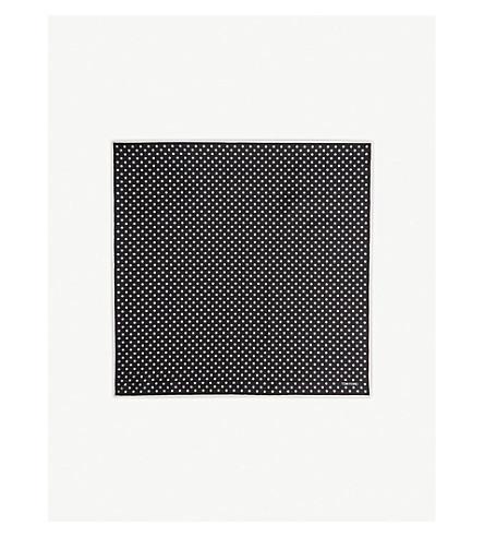 TOM FORD Polka-dot pocket square (Black