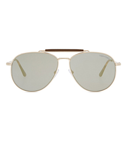TOM FORD Tf5362 sean polarised aviators (Rose+gold