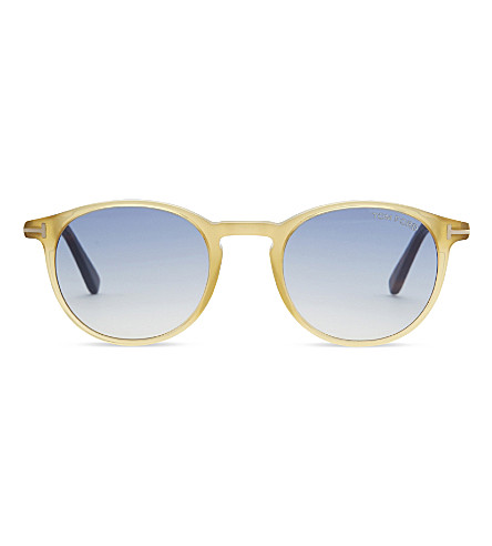 TOM FORD Tf539 round-frame sunglasses (Yellow