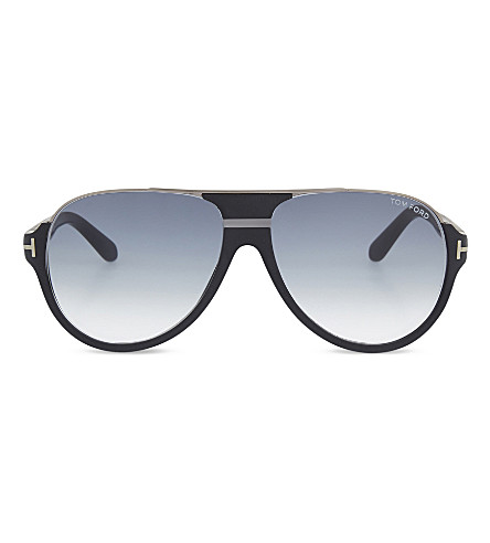 TOM FORD TF334 aviator sunglasses (Black