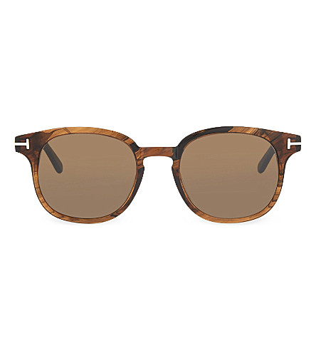 TOM FORD TF399 Frank tortoiseshell round-frame sunglasses (Brown