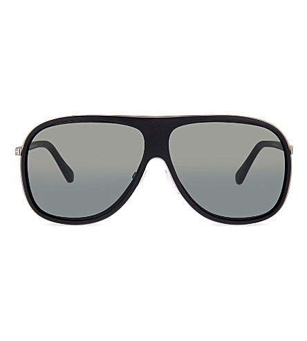 TOM FORD TF462 hris aviator matte sunglasses (Black