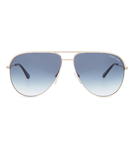 TOM FORD Erin TF466 aviator sunglasses (Gold+blue