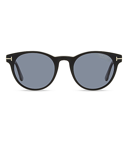 TOM FORD Palmer TF522 round sunglasses (Black+tortoise