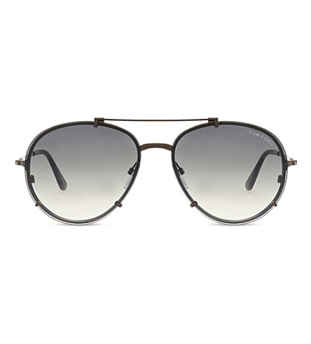 TOM FORD Dickon TF527 aviator sunglasses (Brown