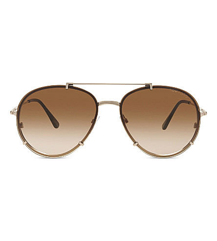 TOM FORD Dickon TF527 aviator sunglasses (Gold