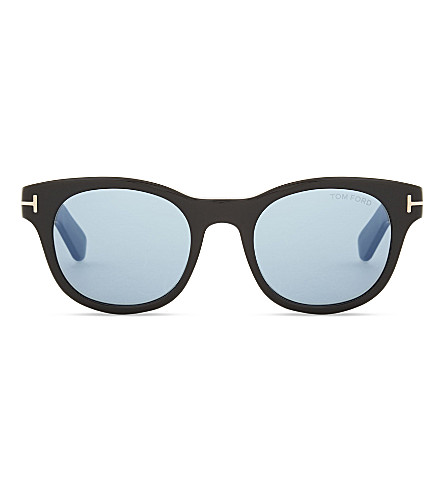 TOM FORD Fisher Tf531 square-frame sunglasses (Black