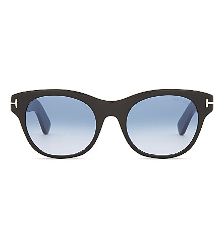 TOM FORD Ally Tf532 square-frame sunglasses (Black