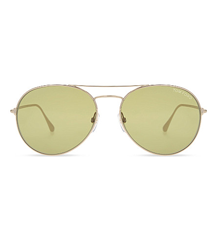 TOM FORD TF551 aviator sunglasses (Gold
