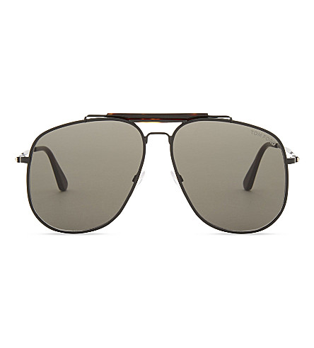TOM FORD Connor Tf557 aviator sunglasses (Black