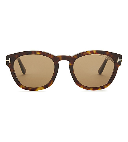 TOM FORD Tf590 Bryan square-frame sunglasses (Havana/+roviex