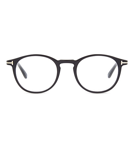 TOM FORD Tf5294 classic round-frame glasses (Shiny+black