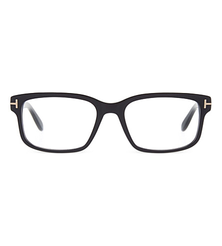 TOM FORD TF5313 square-frame clear glasses (Matt+black