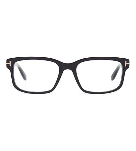 TOM FORD TF5313 方形框架透明眼镜 (哑光 + 黑色