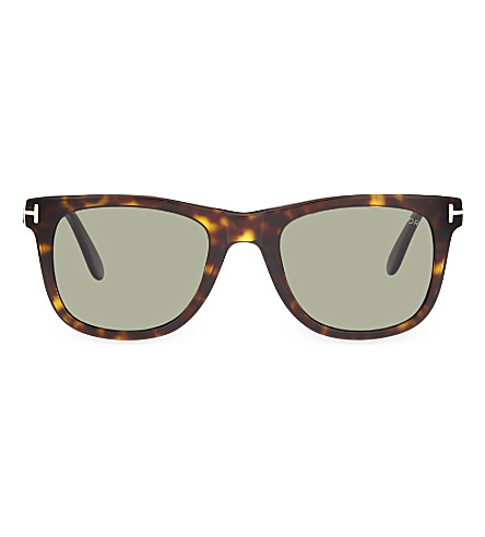 TOM FORD TF336 Leo tortoiseshell square-frame sunglasses (Dark+tortoise