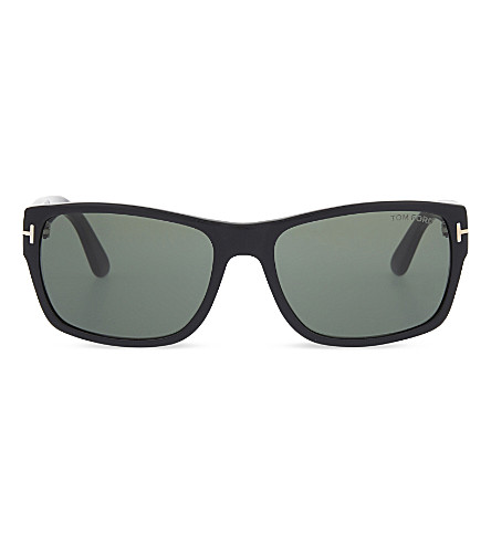 TOM FORD TF445 mason rectangular sunglasses (Shiny+black