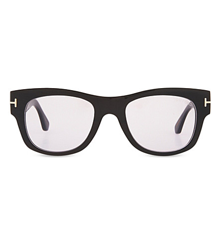 TOM FORD Tom N.2 square-frame sunglasses (Blk+smoke