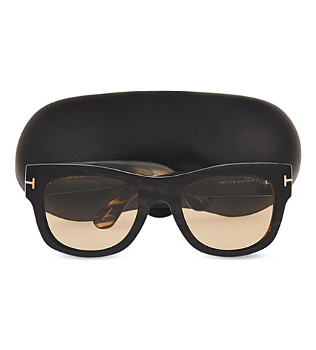 TOM FORD TOM NO. 2 PRIVATE COLLECTION HORN SUNGLASSES, GREEN