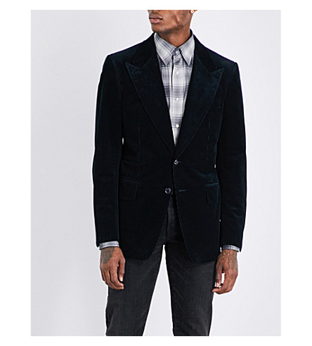 TOM FORD Shelton regular-fit corduroy cotton jacket (Black