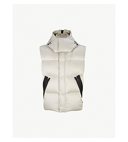 TOM FORD Quilted shell-down vest (Silver