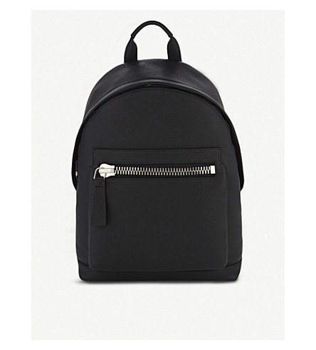 TOM FORD Buckly leather backpack (Black/silver