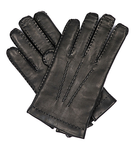 TOM FORD Full-grain nappa leather gloves (Black