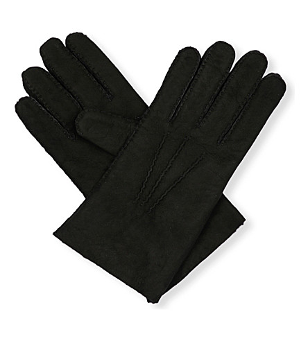 TOM FORD Shearling gloves (Black