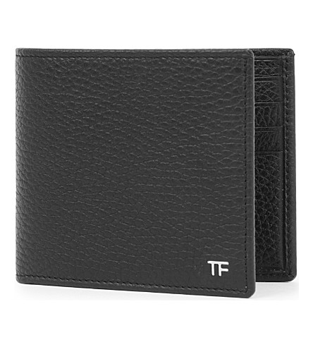 TOM FORD Grained leather billfold wallet (Black