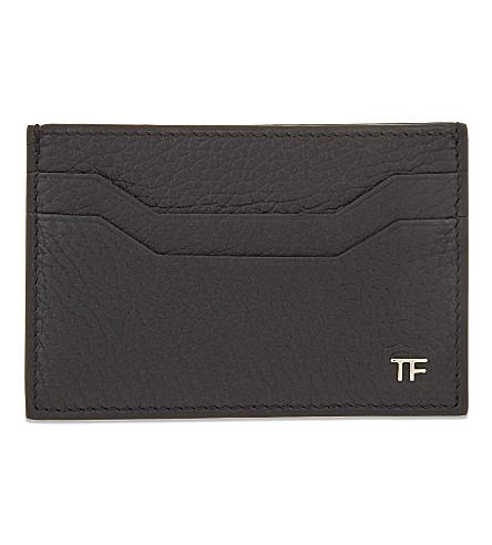 TOM FORD Leather card holder (Black