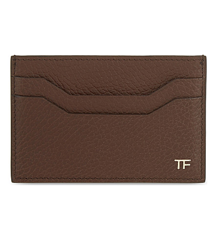 TOM FORD Leather card holder (Chocolate