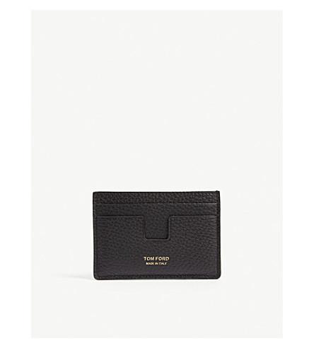 TOM FORD Leather card holder (Black