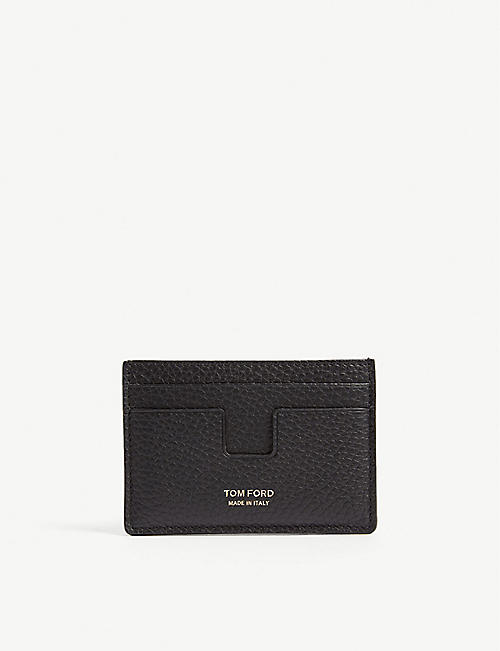 Cardholders wallets accessories mens selfridges shop online tom ford grained leather card holder reheart Gallery