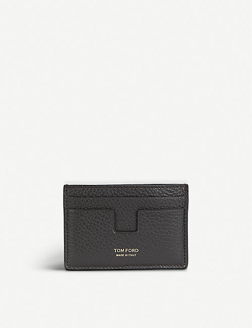 Card holders mens bags selfridges shop online tom ford grained leather card holder reheart Choice Image