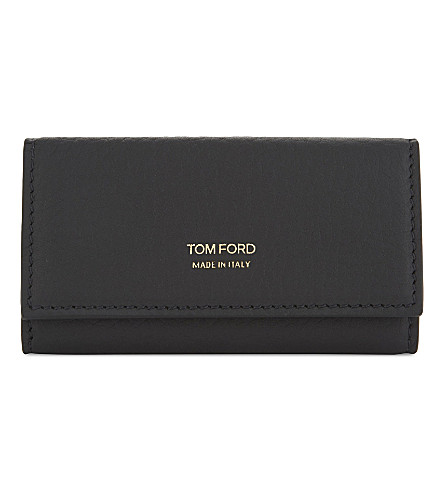 TOM FORD Grained leather purse (Black