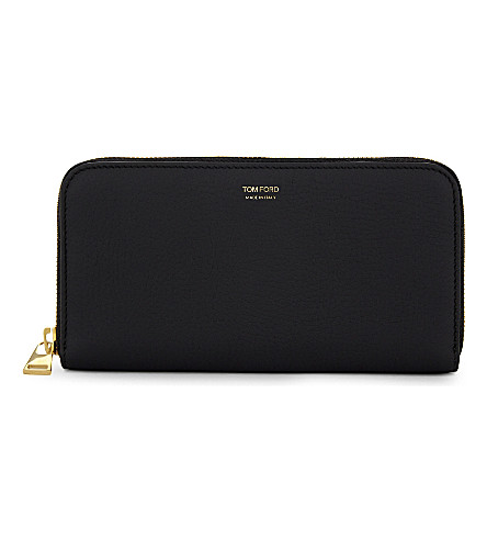 TOM FORD Pebble grain leather purse (Blk