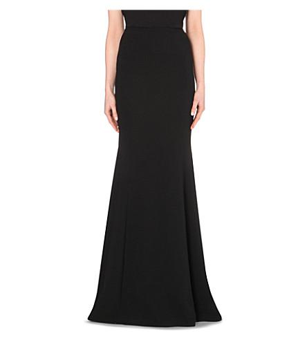 ROLAND MOURET Aries crepe maxi skirt (Black