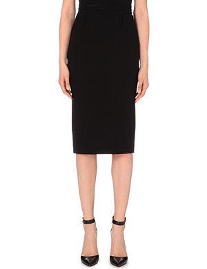 ROLAND MOURET Arreton wool-crepe pencil skirt