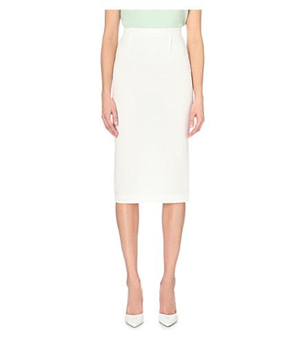 ROLAND MOURET Arreton wool skirt (White