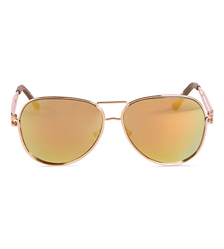 ROLAND MOURET Aviator mirror sunglasses (Gold