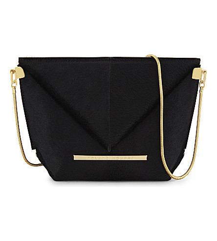 ROLAND MOURET Mini Classico haircalf cross-body clutch (Black