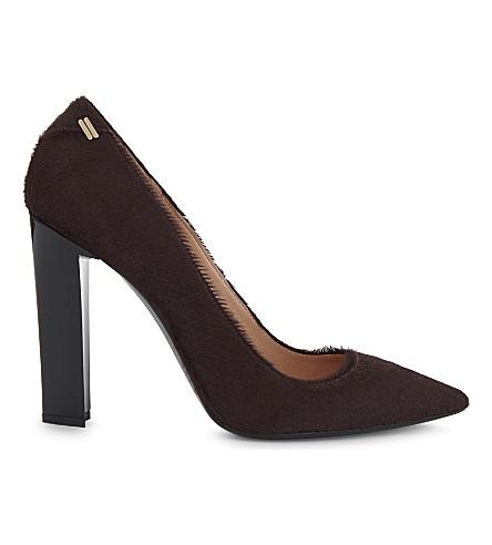 ROLAND MOURET Hero iii haircalf block heels (Mulberry