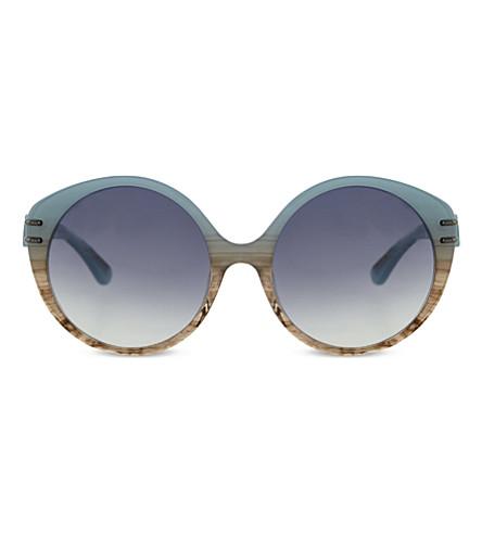 ROLAND MOURET Farah round sunglasses (Blue+smoke